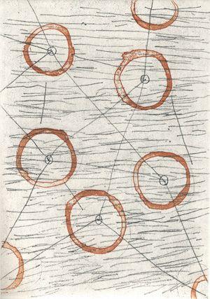 Philippe Vandenberg, etching (45bis) for Exil de Peintre, Ergo Pers, 2004