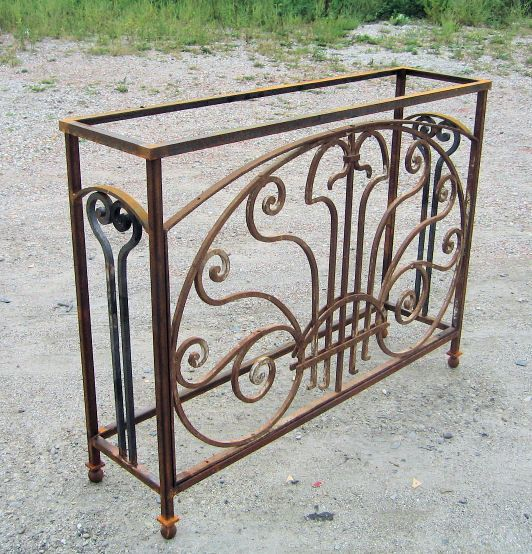 For the base: Salvaged Wrought Iron Table Legs | Heavy forged and fitted iron from Milwaukee, c1850, once a window ...
