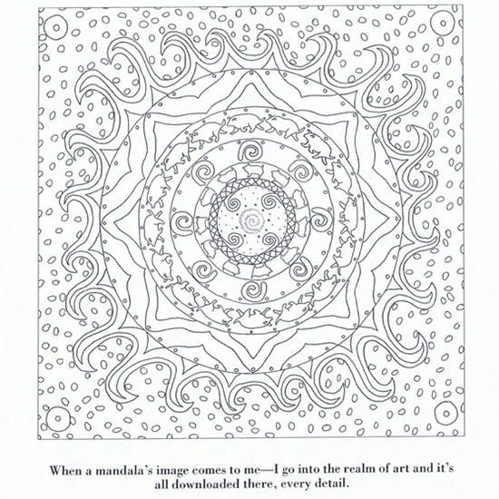 Color Yourself Calm Mandala