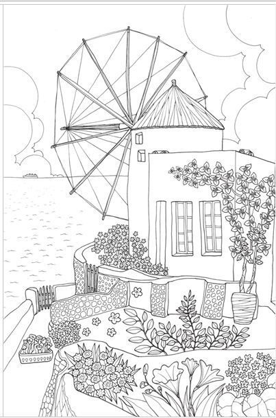 Fantastic Cities Coloring Book Download : 223 best colouring pages images on pinterest