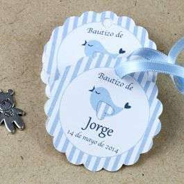Invitaciones bautizo: fotos ideas para imprimir - Invitación para niño y pajaritos