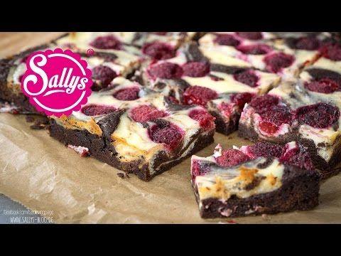 Cheesecake Brownies / Käsekuchen Brownies mit Himbeeren - YouTube