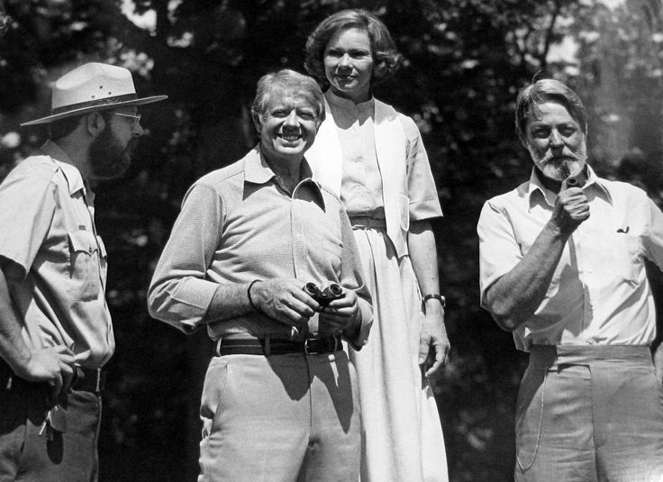 President Carter, Mrs. Carter and Shelby Foote