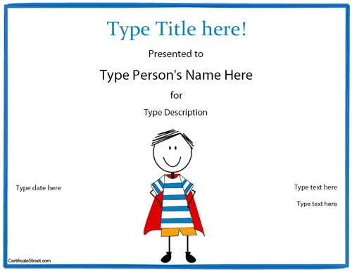 ... reading award certificates super heroes certificate templates awards