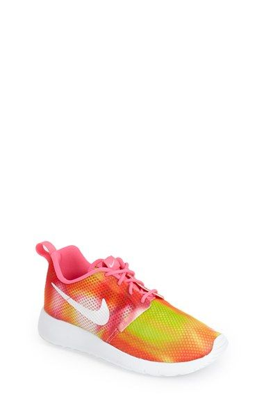 Girls Nike Roshe Run Flight Weight GS Sneaker