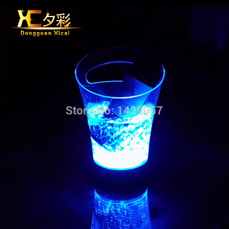 ==> [Free Shipping] Buy Best Bar Led Plastic Ice Bucket Luminous Light Color Changing Champagne Beer Red Wine Cooler Small Clear Ice Pail Online with LOWEST Price | 32313932202