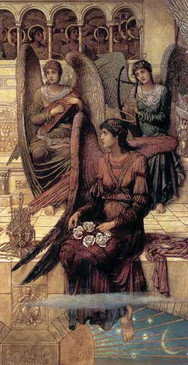 The Ramparts of God's House, detail 1, John Melhuish Strudwick