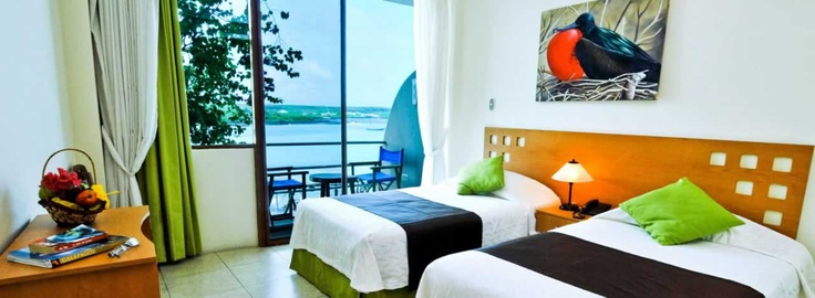 A twin oceanview room in Hotel Solymar #Galapagos #solymargalapagos www.solymargalapagos.com #viajar
