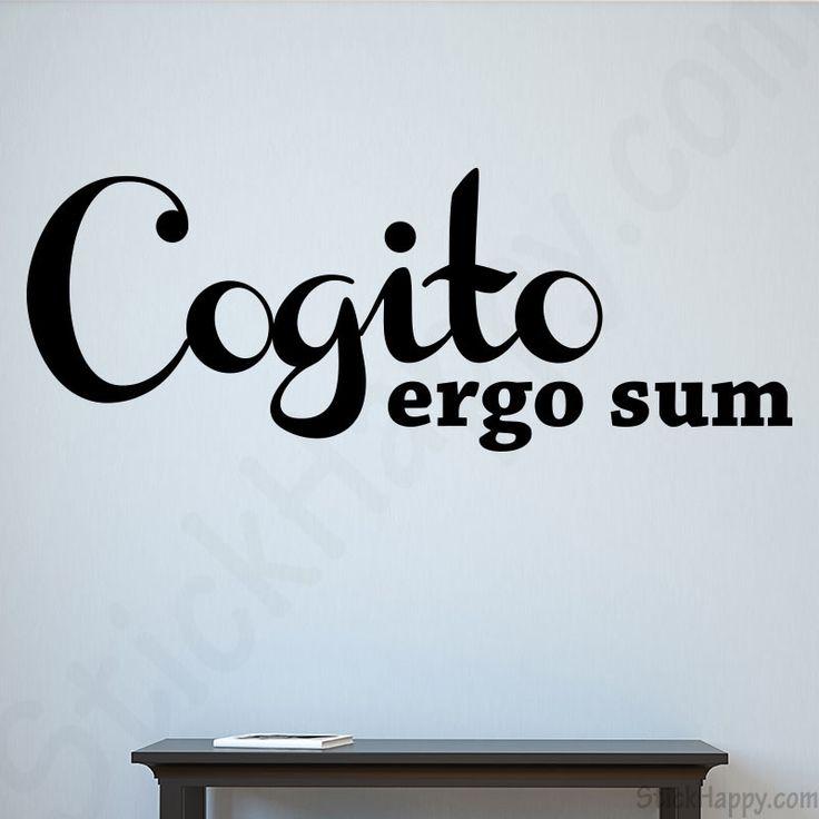 Stickers je pense donc je suis : Cogito ergo sum qui signifie en français je pense donc je suis - http://www.stickhappy.com/stickers-citation-en-latin/234-stickers-je-pense-donc-je-suis.html
