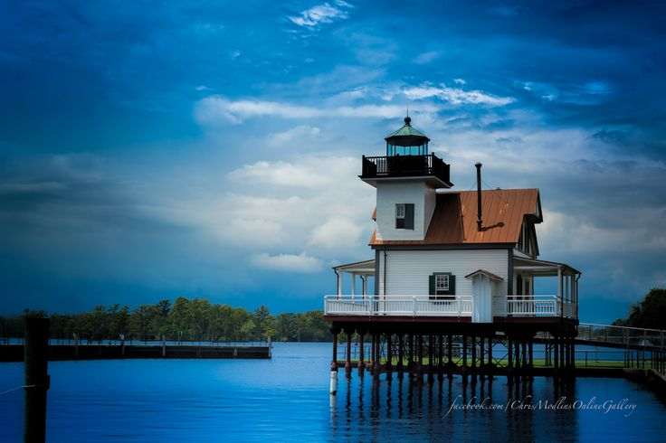 Lighthouse Blues - Photo by Chris Modlin taken Aug 2013 at the Edenton 1886 Roanoke River Lighthouse, in Edenton, North Carolina.  www.facebook.com/ChrisModlinsOnlineGallery