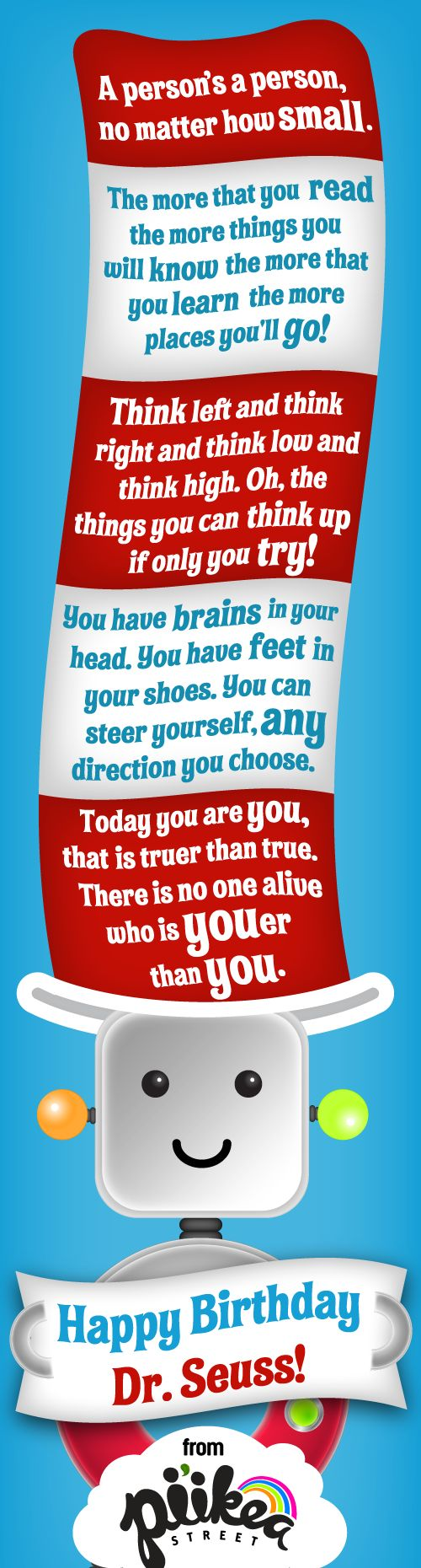 Celebrate dr seuss birthday or anyway with these free dr seuss quote - Seuss S Birthday On March To Celebrate We Ve Collected Some Of Our Favorite Quotes From That Silly Guy