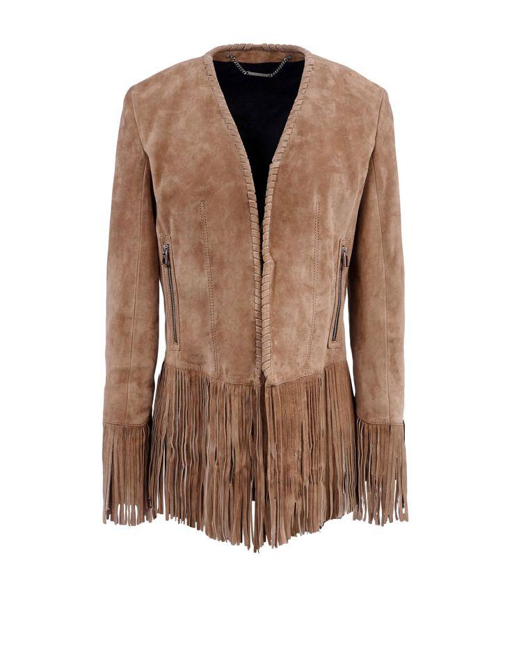 Offrez-vous la veste de vos rêves parmi notre choix irrésistible de vestes en faux daim pour femme. Vous aimez la tendance 70's? Le blouson à franges couleur rouille vous fera craquer.