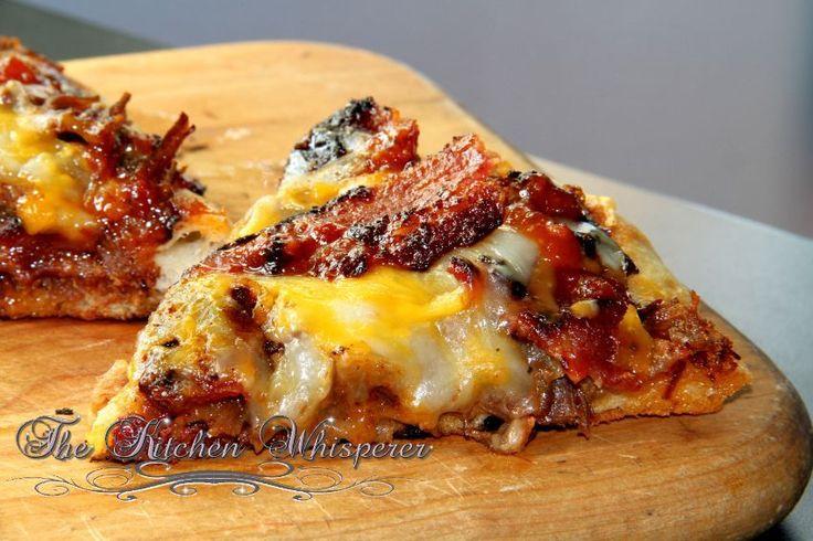 Grilled BBQ Beef Short Rib Pizza.