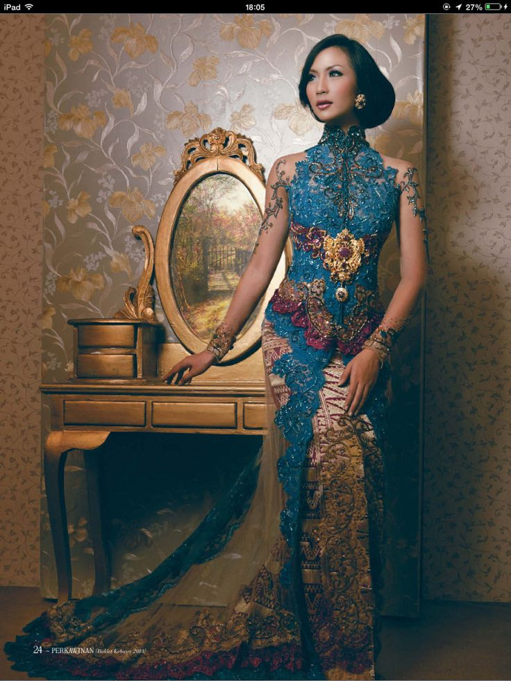 Pretty blue #kebaya
