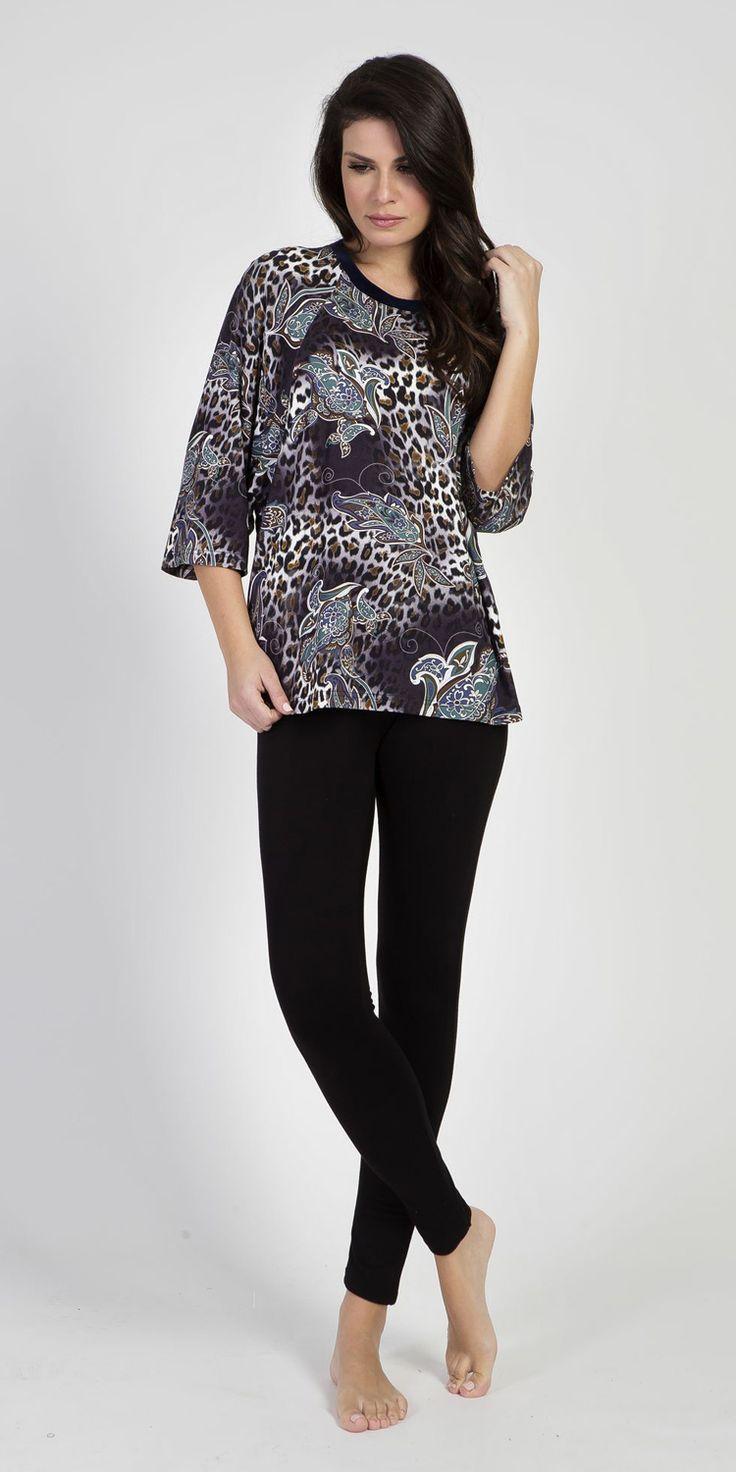 Loungewear Set 95% Viscose 5% Elastane | Loungewear| Vamp! Loungewear Set 95% Viscose 5% Elastane 5307-5435
