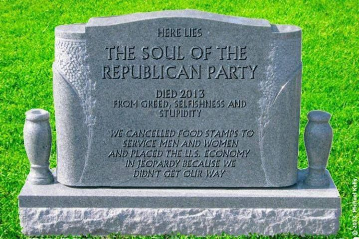 Here lies the soul of the Republican Party. | Political ...