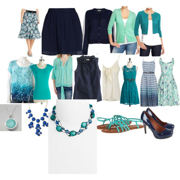 Summer Work Wardrobe Capsule by rewritten-kitten on Polyvore....I created this one to show how versatile a summer work wardrobe can be with only 18 pieces, plus jewelry and shoes.