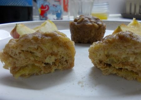 Almás muffin mikróban
