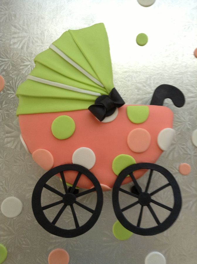 Baby Carriage Cake ..❤