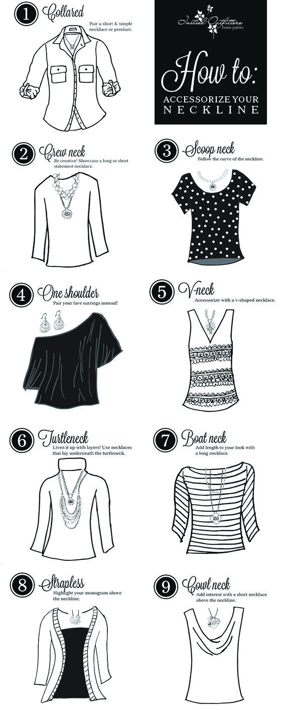 How to accessorize different necklines!
