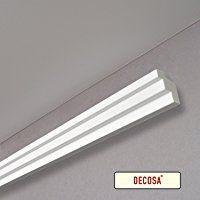 Decosa® G36 (Kristine), 38 x 48 mm Länge 2 m – Dekorative Lichtleiste in Weiß für indirekte Beleuchtung von Wand und Decke – Die Stuckleiste ist kombinierbar mit LED Band oder Lichtschlauch
