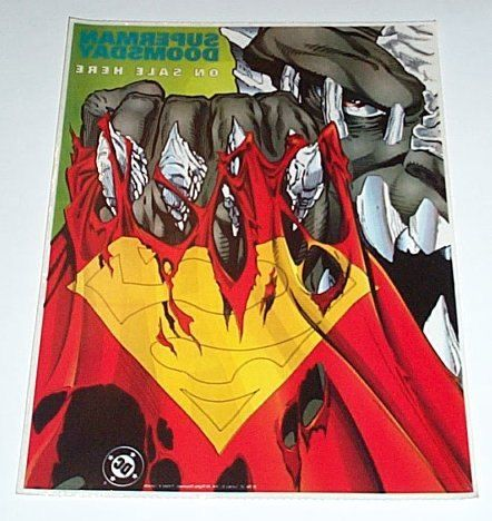 Rare vintage original 1994 Doomsday kills Superman 13 by 10