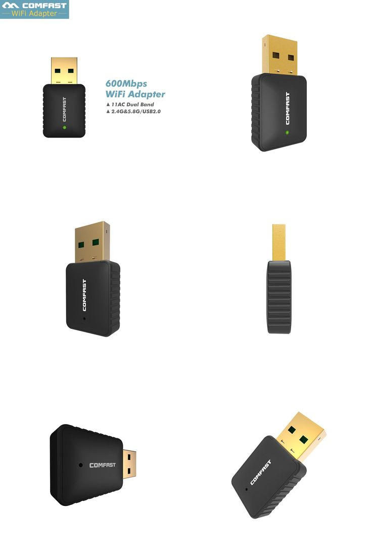 [Visit to Buy] 2017 New ! Dual Band 802.11AC USB Wifi Adapter 2.4G 5 Ghz PC Wifi Adapter 600 mbps Wireless Network LAN Card USB WI-FI dongle #Advertisement