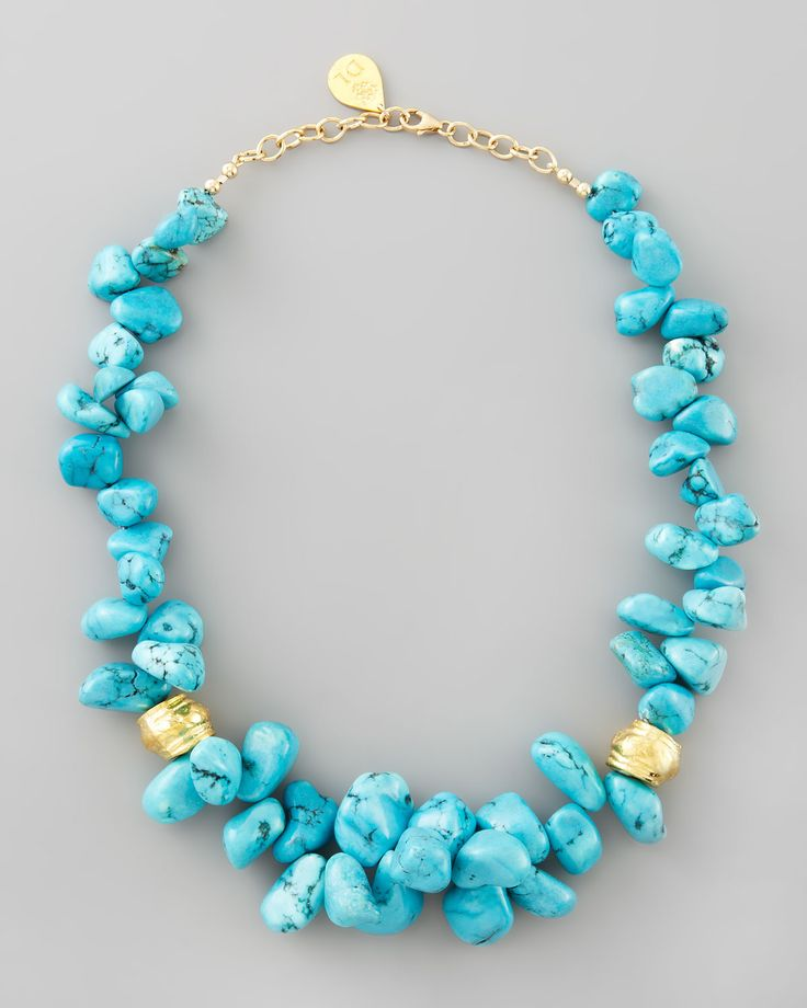 Devon Leigh Turquoise Cluster Beaded Necklace