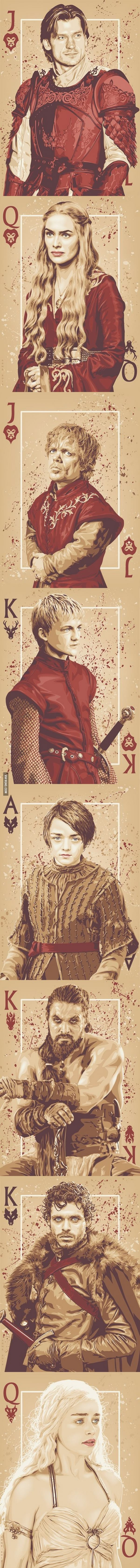 """3qwtezvdthsrh Cards """"Games Of Thrones"""""""