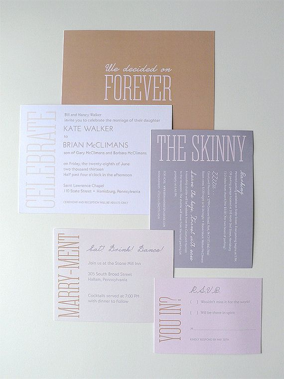 Hey, I found this really awesome Etsy listing at https://www.etsy.com/listing/157549568/simple-and-modern-wedding-invitation