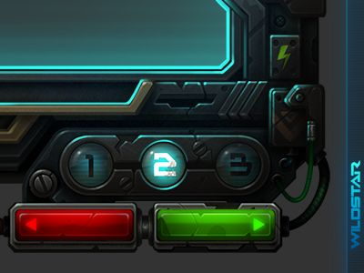 Wildstar Demo UI Frame by Miguel Angel Durán