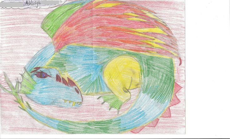 Entry 12: 'Fire and Ice Dragon' by Ashleigh, age 11