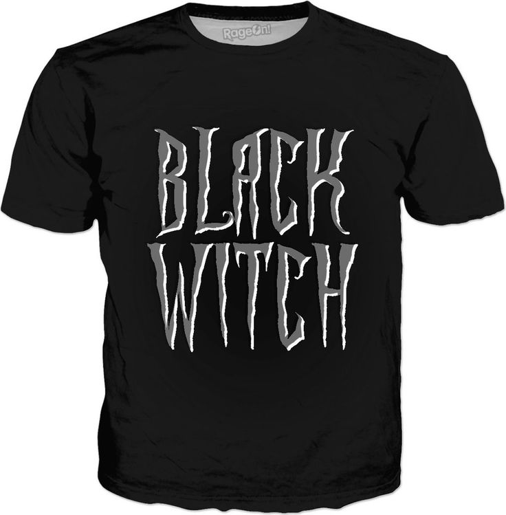 #Black #witch #classic, #black #tee #shirt, fantasy, #magical font v.2 - item printed by www.rageon.com/a/users/casemiroarts - also available at www.casemiroarts.com  #style #clothing #apparel #fashion