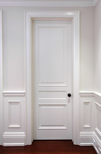 interior panel door with three unequal divisions