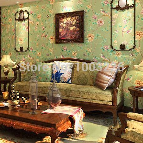 Papel де parede 3d обои птицы отрасль тиснением текстурированные нетканого обои цветочный цветочный мотив фон декор для дома