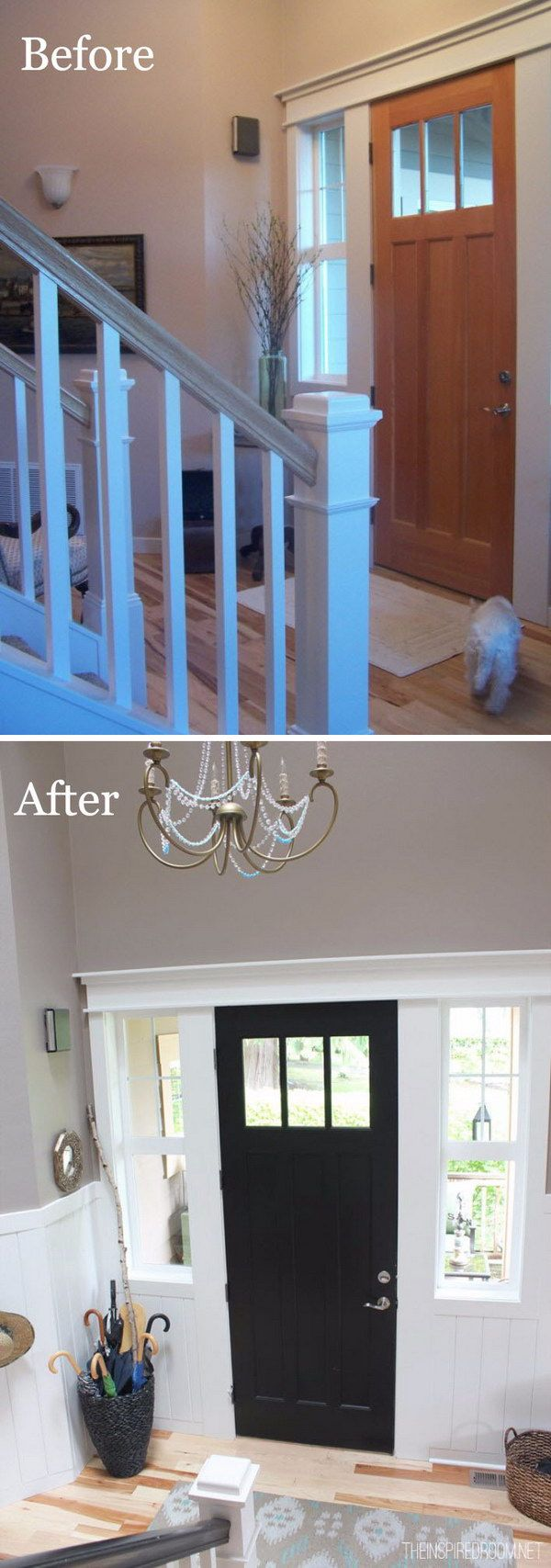 Enhance an Entryway with Board & Batten and Painting.