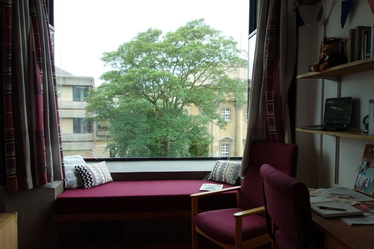My Dorm Room With Its Huge Windowseat And A View Onto