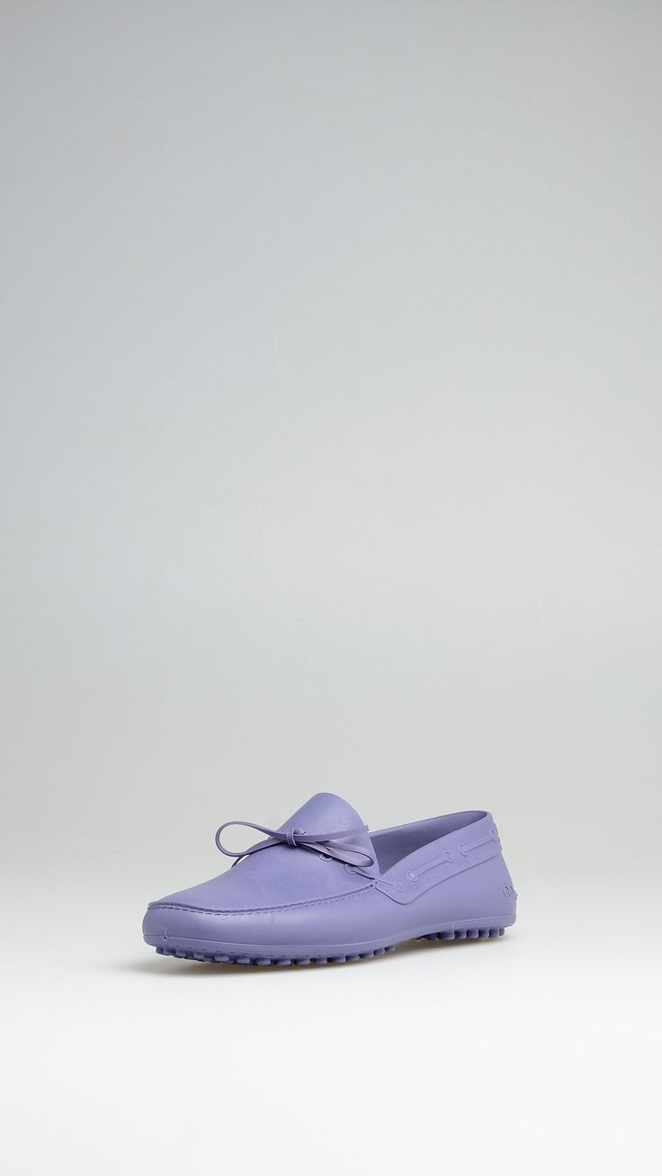 Shudy Lilac TPU rubber loafers, leather insole, rubber studs.