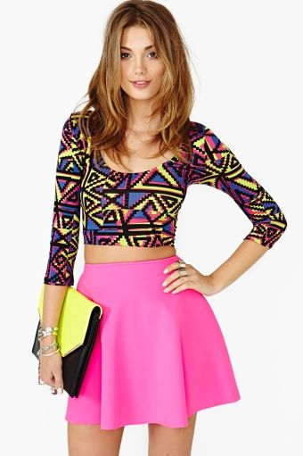 Electric Sound Crop Top by Nasty Gal