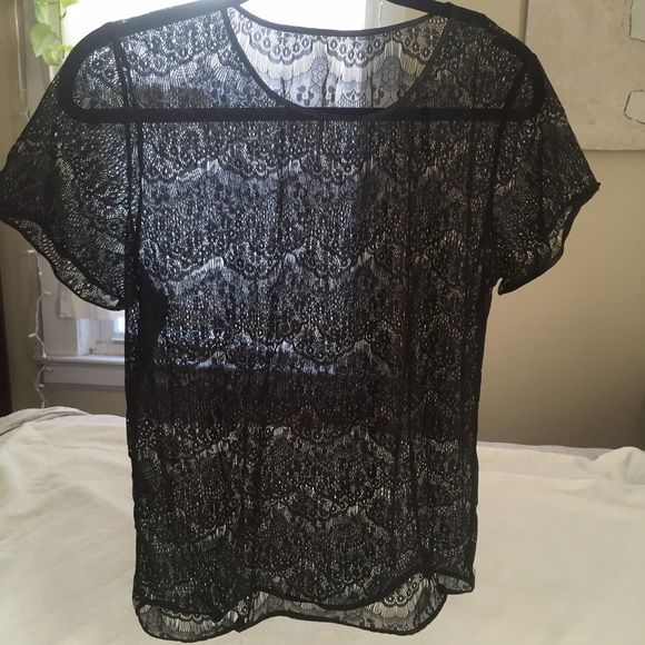 American Apparel Black El Salvador Lace Shirt American Apparel Black El Salvador Lace shirt. No longer sold in stores or online, this beautiful shirt is perfect for the approaching warm weather. Size Large but I removed the tag because it showed through the shirt when wearing. No stains or rips, this shirt is in excellent condition! Hand wash only  #americanapparel #topshop #zara #lace #deadstock #asos #forever21 #freepeople #anthropologie #urbanoutfitters American Apparel Tops Tees - Short…