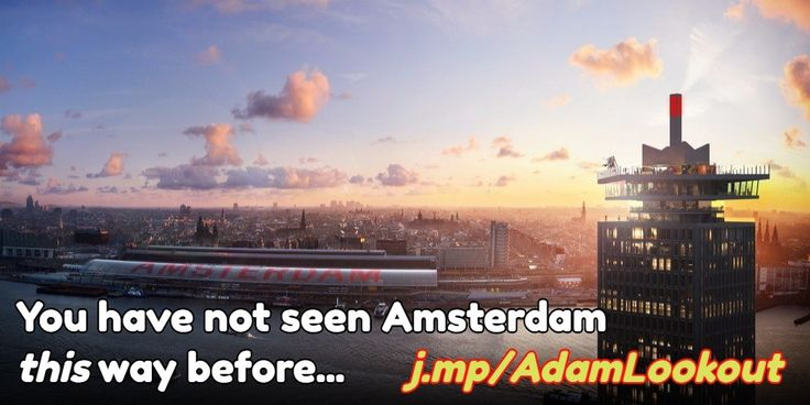 See Amsterdam like you've never seen it before from the A'DAM Lookout observation deck. And yes, that is a swingset right on the ledge...