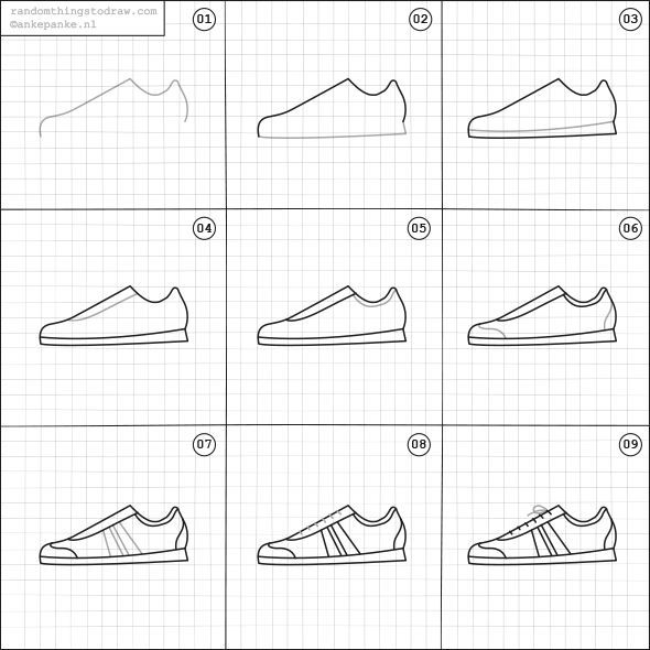 How to draw a shoe.