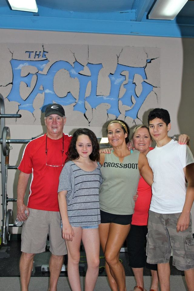 "My family at my sister's gym ""The Facility"""