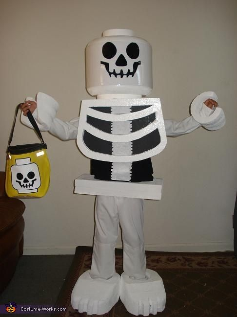 Lego Skeleton Costume - we think this will be the winner (inspiration) for Aidan this year! Thank you Pinterest!
