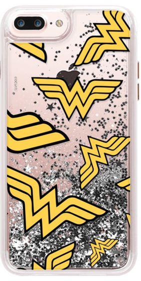 Casetify iPhone 7 Liquid Glitter Case - WONDER WOMAN LOGO PATTERN by nicoleaiden93 #Casetify
