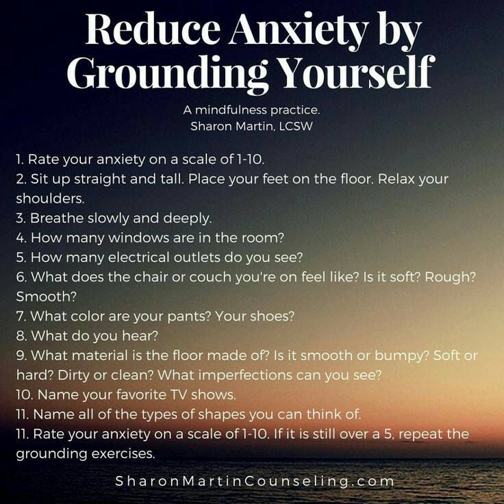 Reduce anxiety by grounding yourself