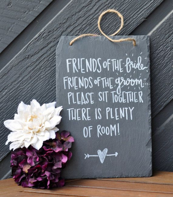 Wedding Chalkboard Decoration // Hanging by ChalkFullofLove, $25.00