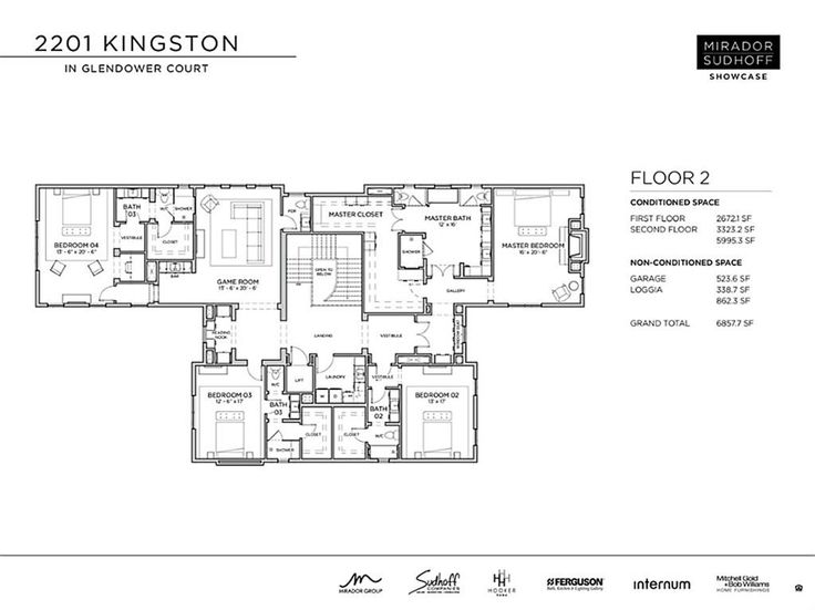 2201 Kingston St Houston, TX 77019: Photo Second Floor Layout