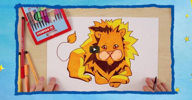 Grrrrrrrr… In deze tutorial leer je hoe je en leeuw tekent. Wij gebruikten de Pen 68, een viltstift met robuuste punt voor krachtige lijnen in 46 kleuren. Laten we gaan tekenen!
