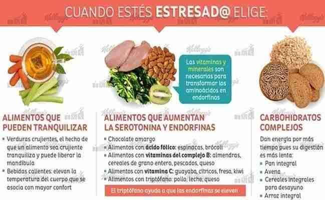 Alimentos saludables para combatir el estres